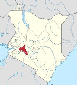 Nakuru County, Kenya, i rött